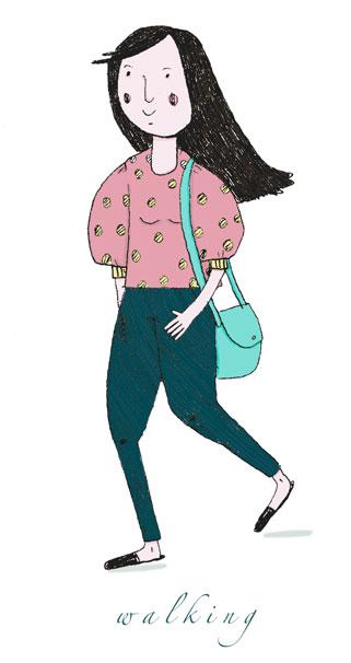 Olivia Villet Walking