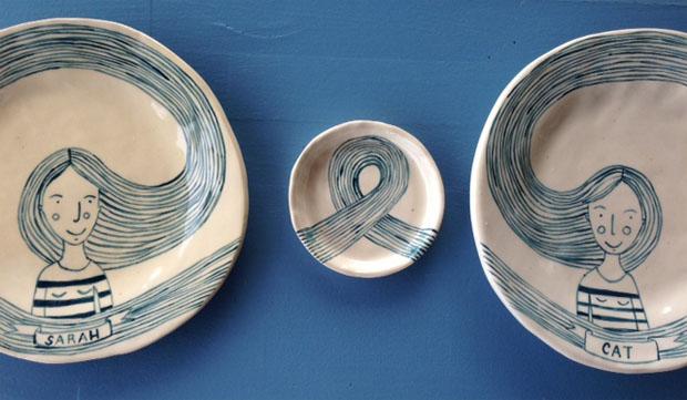 Olivia Villet plates - close up